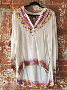 Printed V-Neck Tunic