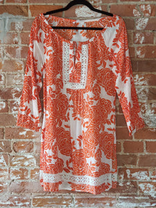 Orange Rose Tunic