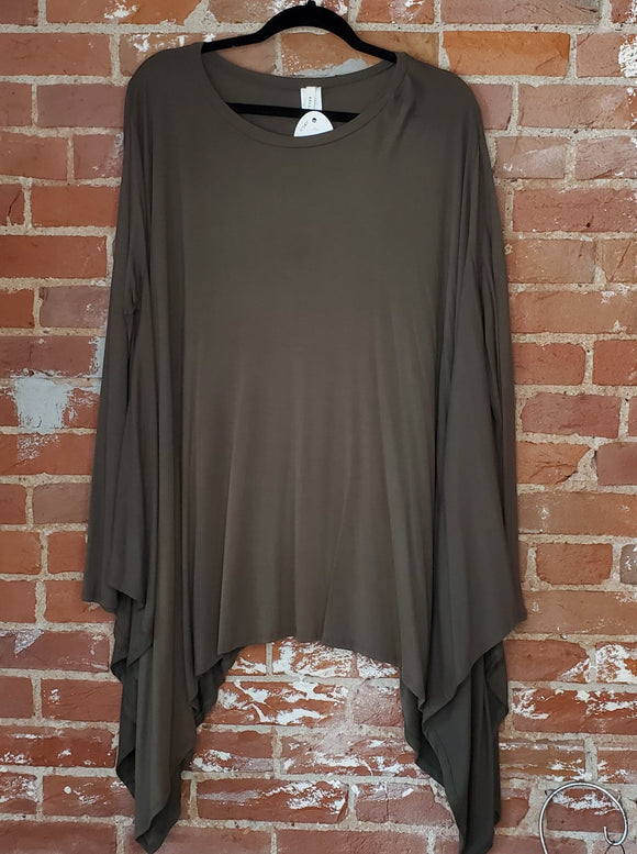 Asymmetrical Hem Tunic Top