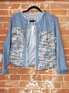 Denim Boucle Jacket