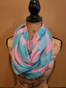 Teal and Purple Chevron Scarf