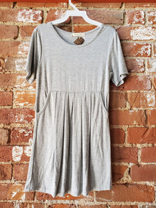 Kids Gray Dress with Pockets