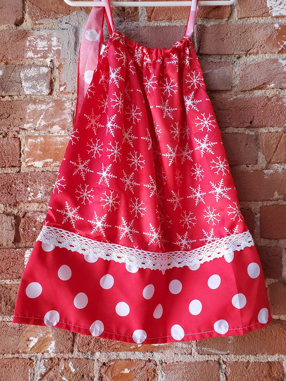 Kids Christmas Snowflake Dress