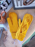 Braided Knit Panache Mittens
