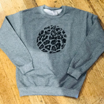 Gray Basketball Cheetah Sweatshirt