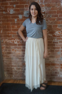 Cream Hobo Skirt