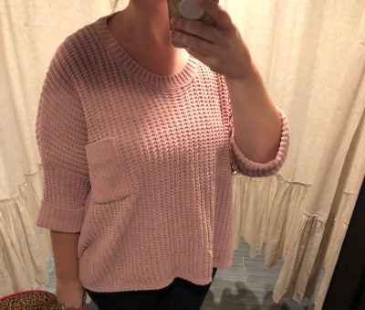 Dusty Rose Oversized Pullover