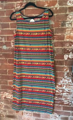 Multicolored Dress, Plus Size