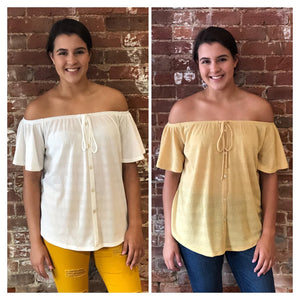 Terry Off-the-Shoulder Shirt