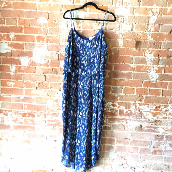 Navy Maxi Butterfly Dress, Plus Size