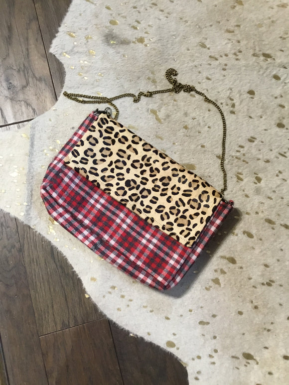 Plaid/Animal Print Purse