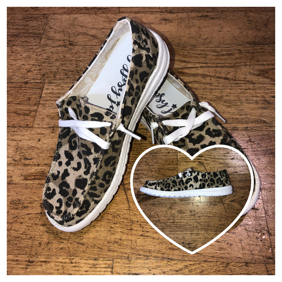 Animal Print Canvas Shoes