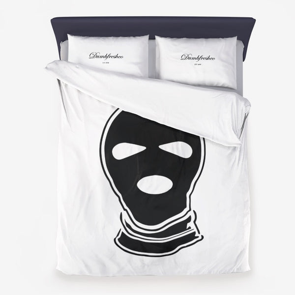 Ski Mask Microfiber Duvet Cover - Men's Clothing