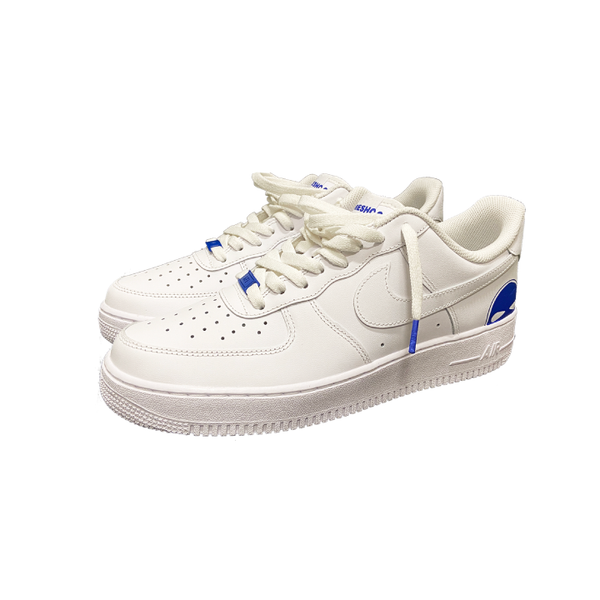 Blue AF1 shoes - DUMBFRESHCO