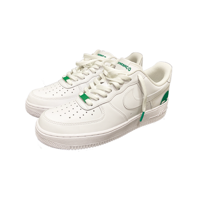 Green AF1 shoes - DUMBFRESHCO