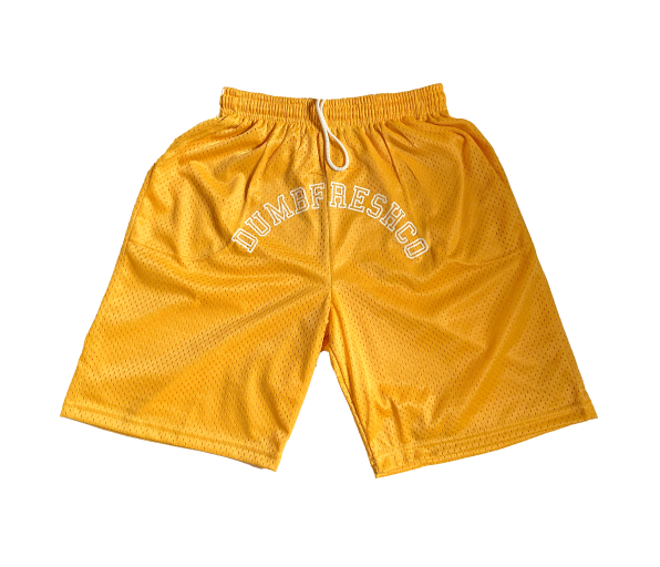 Lounge basketball shorts | yellow - DUMBFRESHCO