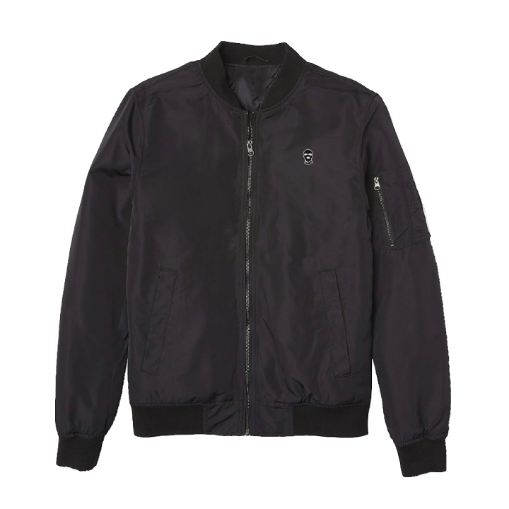 Black bomber jacket - DUMBFRESHCO