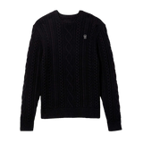 Black cable knit sweater - Men's Clothing