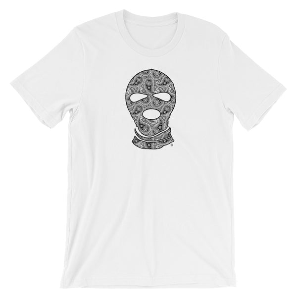 Paisley mask T-Shirt - DUMBFRESHCO