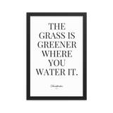 Grass is greener Framed poster - Men's Clothing