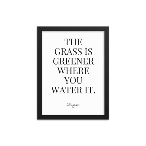 Grass is greener Framed poster - Dumb Fresh Clothing
