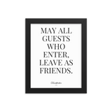 Friends Framed poster - Men's Clothing