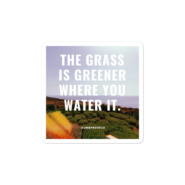 The Grass Is Greener stickers - Men's Clothing