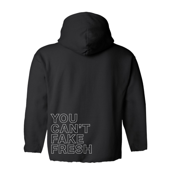 You Can't Fake Fresh reflective crop box hoodie - Men's Clothing