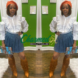 Denim School Girl Skirt