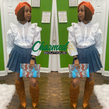 Load image into Gallery viewer, Denim School Girl Skirt