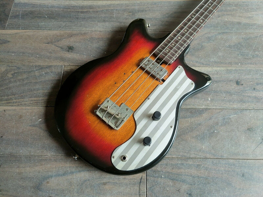 1960's Teisco Japan BS-101 Short Scale Bass (Sunburst)