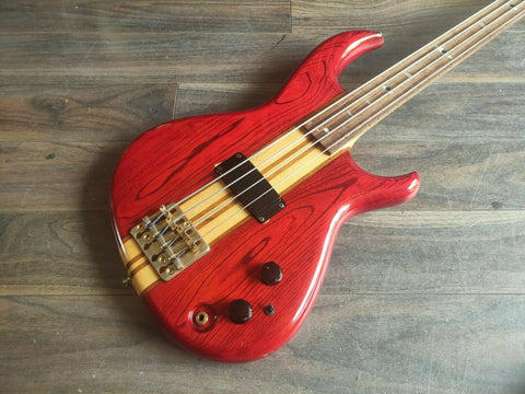 1984 Aria Pro II (Matsumoku) SB-R60 Fretless Neck-Through Bass (Made in Japan)