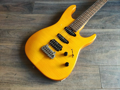 1995 Washburn (Grover Jackson) Mercury HSS Superstrat (Amber)
