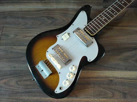 1960's Zenon Gold Foil Offset Electric Guitar (Made in Japan)