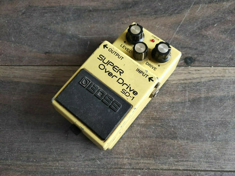 1985 Boss SD-1 Super Overdrive MIJ Vintage Effects Pedal