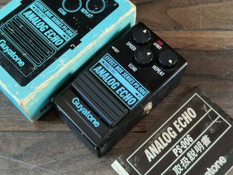 1980 Guyatone PS-006 Analog Echo Delay MIJ Japan Vintage Effects Pedal w/Box