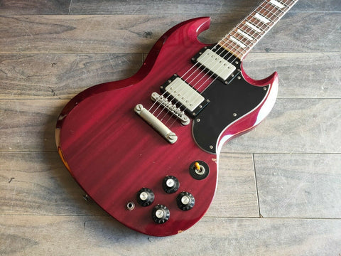 1990 Greco Japan SS-600 Vintage '61 Reissue SG (Cherry)
