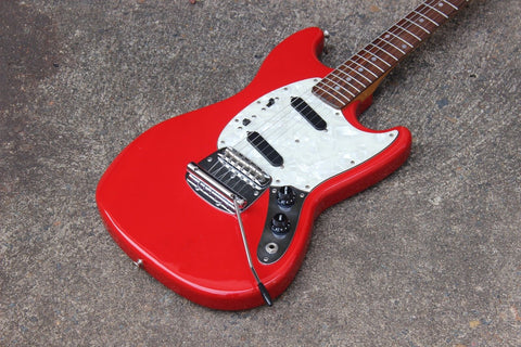 1970's Thunder EM-320 Super Sounds Mustang MIJ Electric Guitar (Fiesta Red)