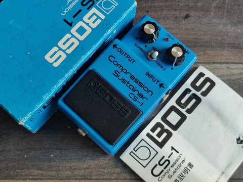 1980 Boss CS-1 Compression Sustainer MIJ Japan Vintage Effects Pedal w/Box