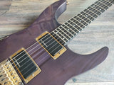 1991 Fernandes FR-140 Revolver HH Superstrat (Purple Neckthrough)