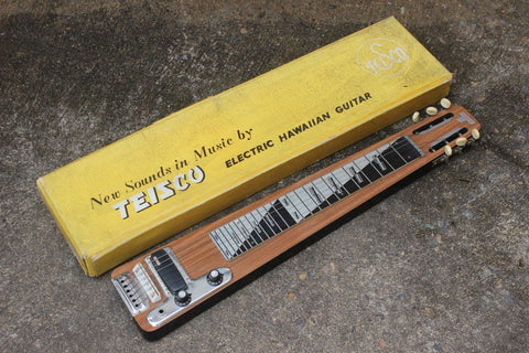 1960's Teisco Japan EG-SW Hawaiian Slide Guitar w/Original Box