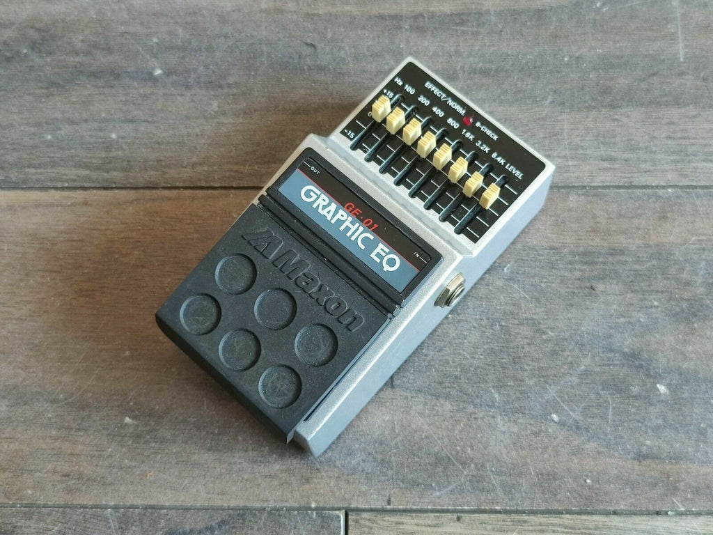1980's Maxon GE-01 Graphic EQ Vintage MIJ Japan Effects Pedal