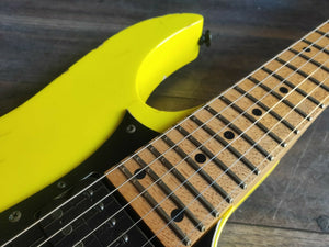 1989 Ibanez Japan RG550 HSH Superstrat (Desert Sun Yellow)
