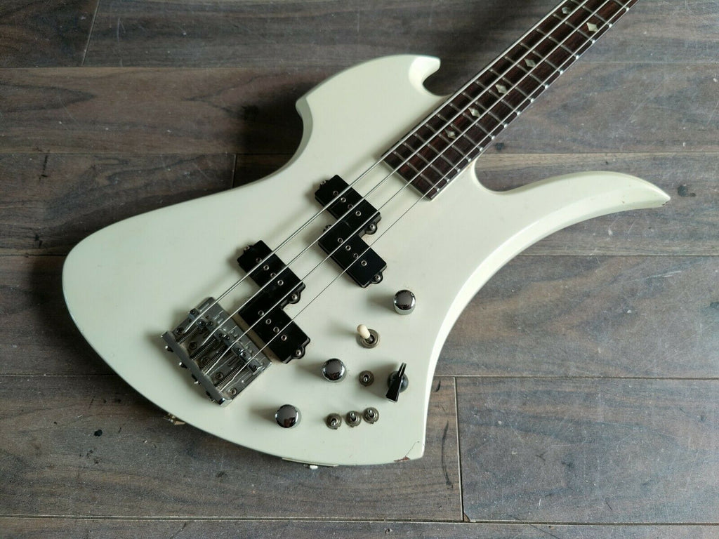 1980's Fernandes Japan MB-85 Neckthrough Mockingbird Bass (White)