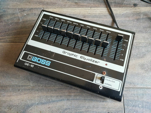 1970's Boss GE-10 Graphic Equalizer EQ MIJ Japan Vintage Effects Pedal