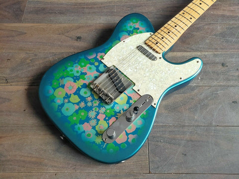 1999 Fender Japan TL69-85 Blue Flower Paisley Reissue Telecaster