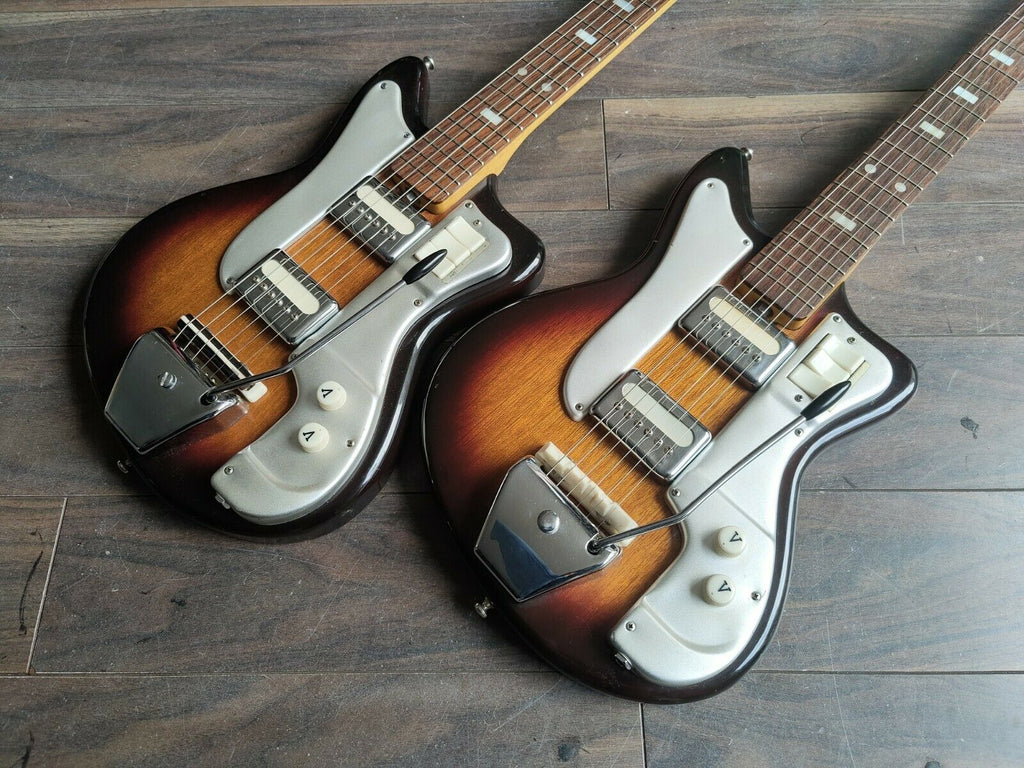 1960's Guyatone Japan LG-70 / Ibanez 1860 Electric Guitars (Matching Pair)