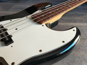 1993 Squier (Fender Japan) Silver Series Jazz Bass (Black)