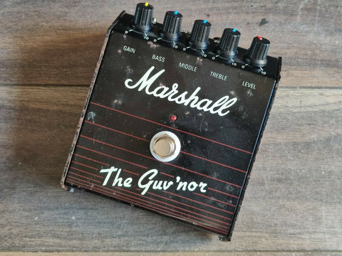1980's Marshall Guv'nor (Made in England)  Distortion Vintage Effects Pedal