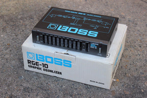 1980's Boss RGE-10 Preamp Graphic EQ MIJ Japan Vintage Effects Rack w/Box